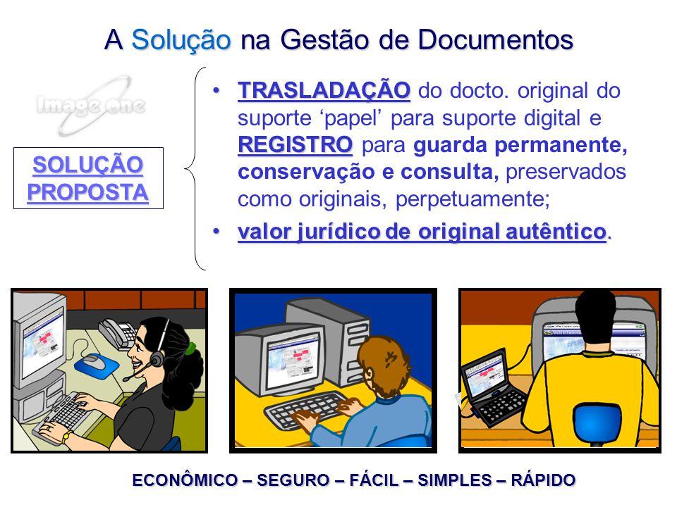 A Solução na Gestão de Documentos TRASLADAÇÃO REGISTROTRASLADAÇÃO do docto.