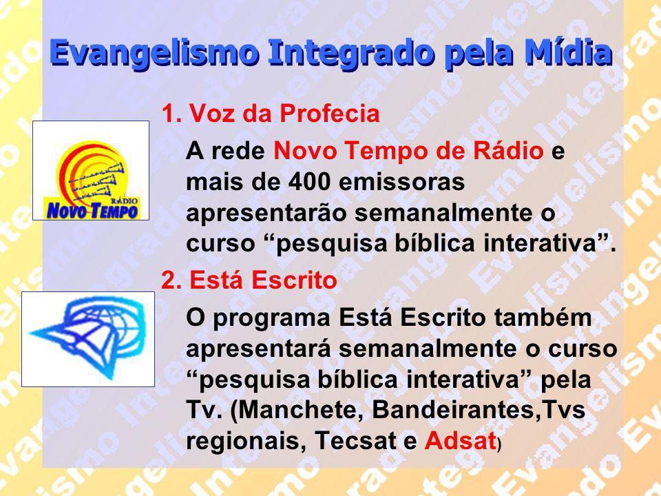 """1. Voz da Profecia A rede Novo Tempo de Rádio e mais de 400 emissoras apresentarão semanalmente o curso """"pesquisa bíblica interativa"""". 2. Está Escrito"""