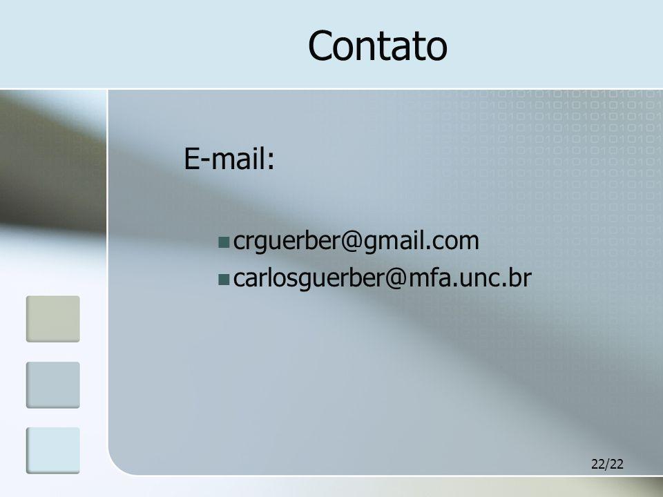 22/22 Contato E-mail: crguerber@gmail.com carlosguerber@mfa.unc.br