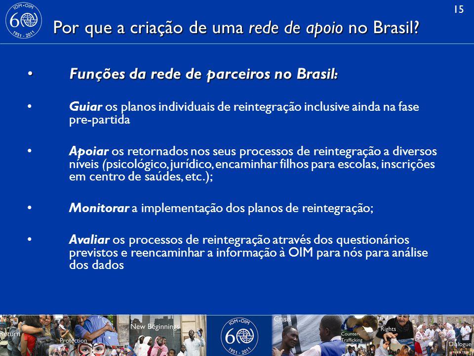 15 Por que a criação de uma rede de apoio no Brasil.
