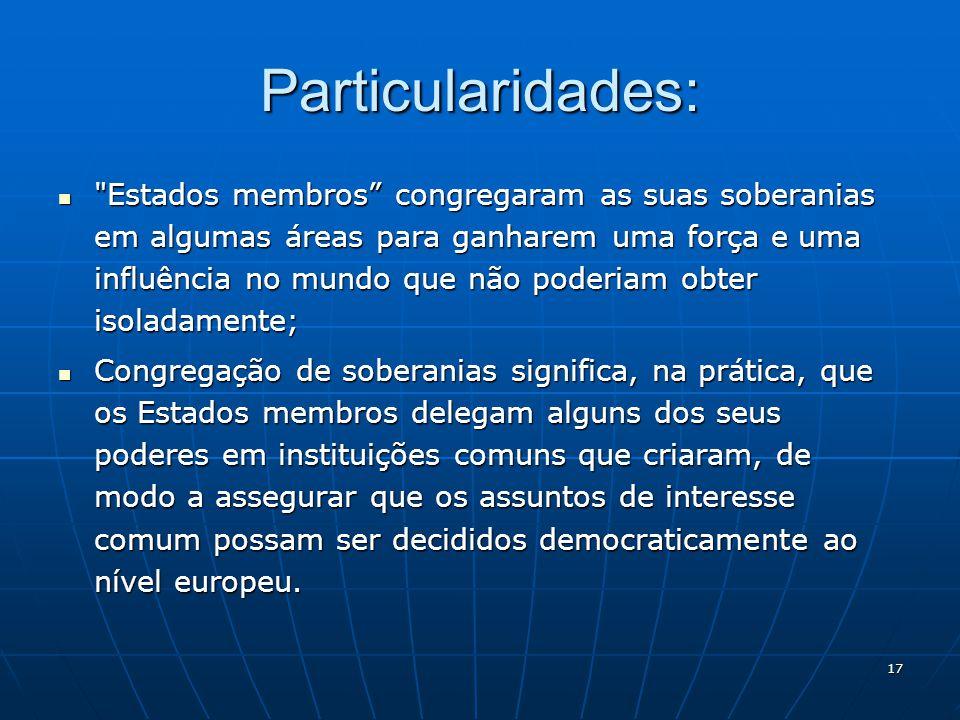 17 Particularidades: