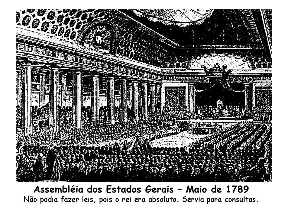 Palácio de Versalhes local da Assembléia Geral dos Estados