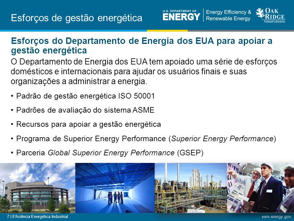 7 | Eficiência Energética Industrialeere.energy.gov O Departamento de Energia dos EUA tem apoiado uma série de esforços domésticos e internacionais pa