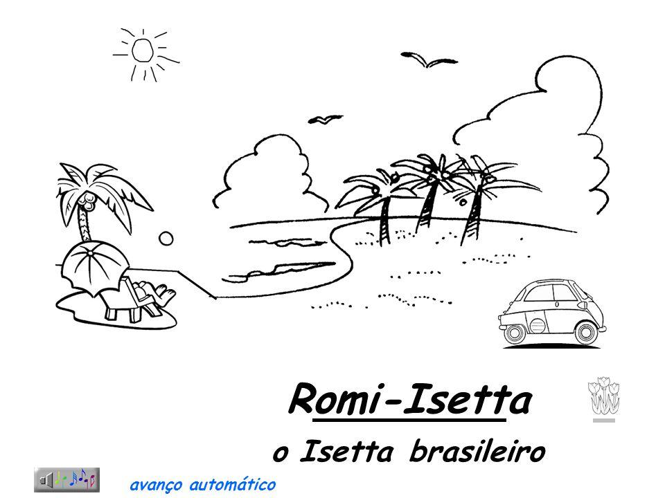 Curiosa propaganda direcionada para o sexo feminino Mostra uma mulher aprisionada em uma gaiola, dando a entender que com uma Romi-Isetta ela estaria se libertando