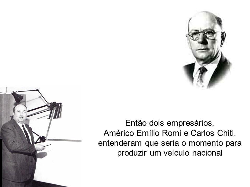 O país vivia tempos de otimismo e necessidade por modernidade e industrialização Então dois empresários, Américo Emílio Romi e Carlos Chiti, entendera