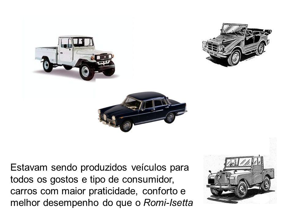 O fato de possuir espaço para somente duas pessoas deixava o Romi-Isetta em desvantagem