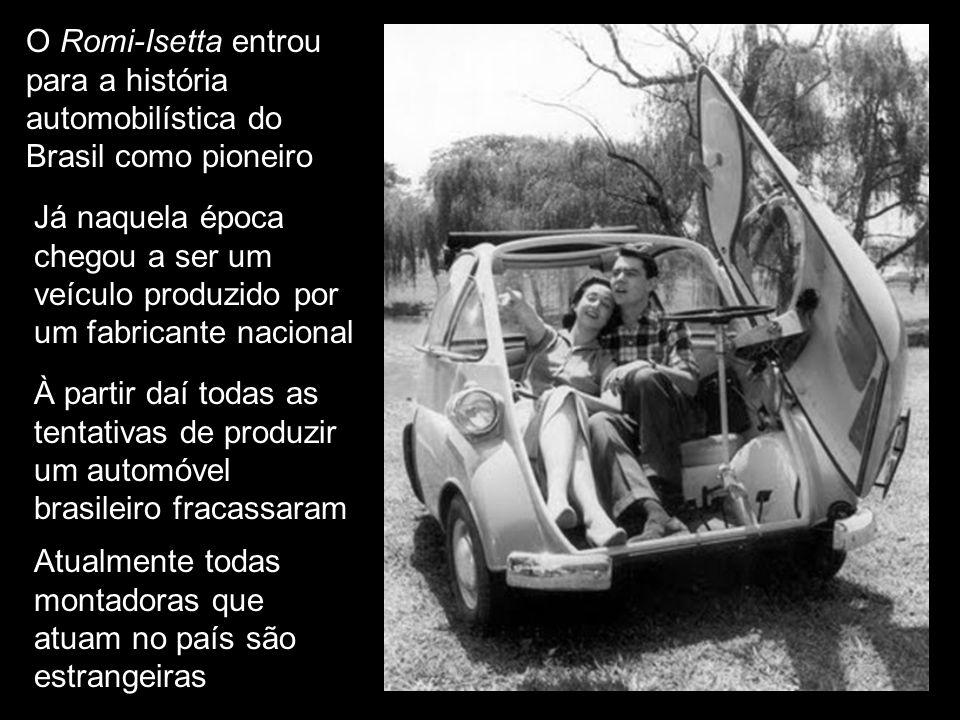 Com isso chega ao fim a fase brasileira do pequeno Isetta A última unidade deixou a fábrica em dezembro de 1961