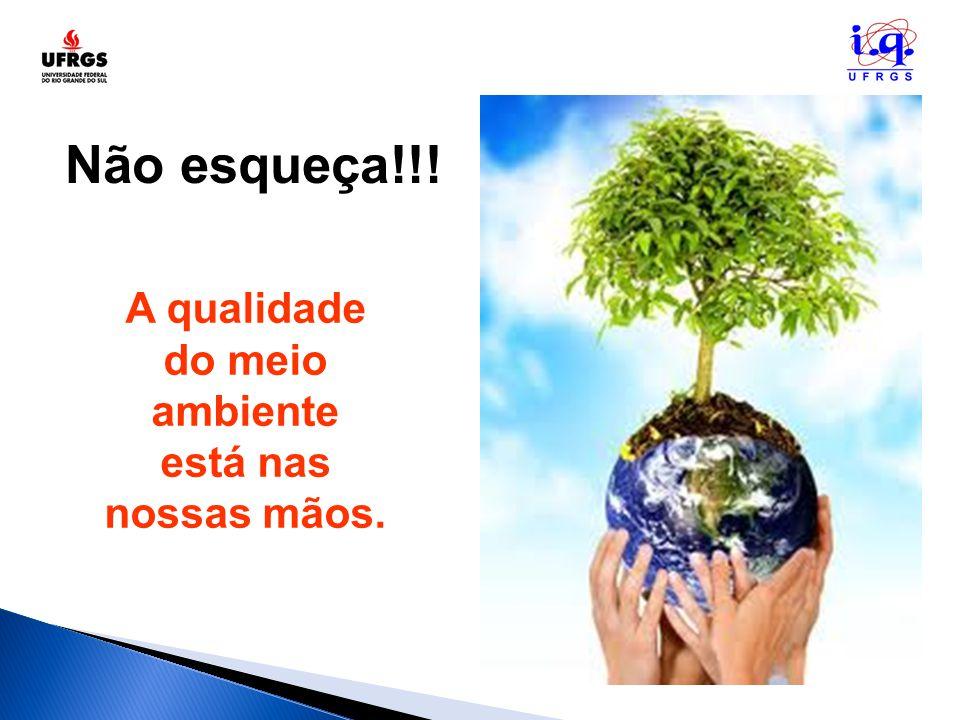 Não esqueça!!! A qualidade do meio ambiente está nas nossas mãos.