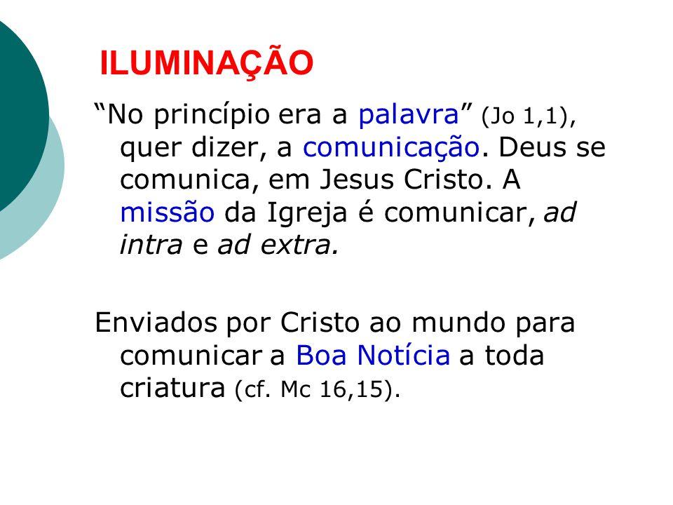 ILUMINAÇÃO No princípio era a palavra (Jo 1,1), quer dizer, a comunicação.