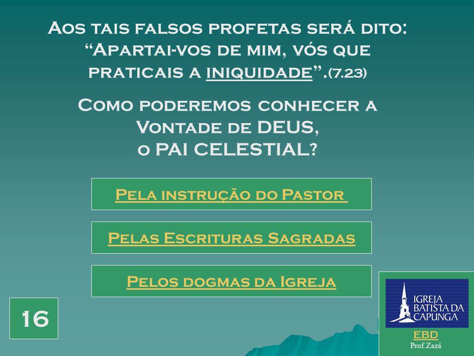 Profetizar, expulsar demônios e fazer milagres, não são frutos que qualificam o verdadeiro profeta, ou o verdadeiro pregador. (7.22) Como Jesus qualif