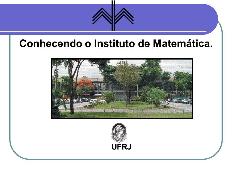 O IM - UFRJ Objetivos do Instituto de Matemática da UFRJ: Ensino (graduação e pós-graduação).