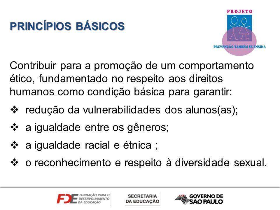 PRINCÍPIOS BÁSICOS Contribuir para a promoção de um comportamento ético, fundamentado no respeito aos direitos humanos como condição básica para garan