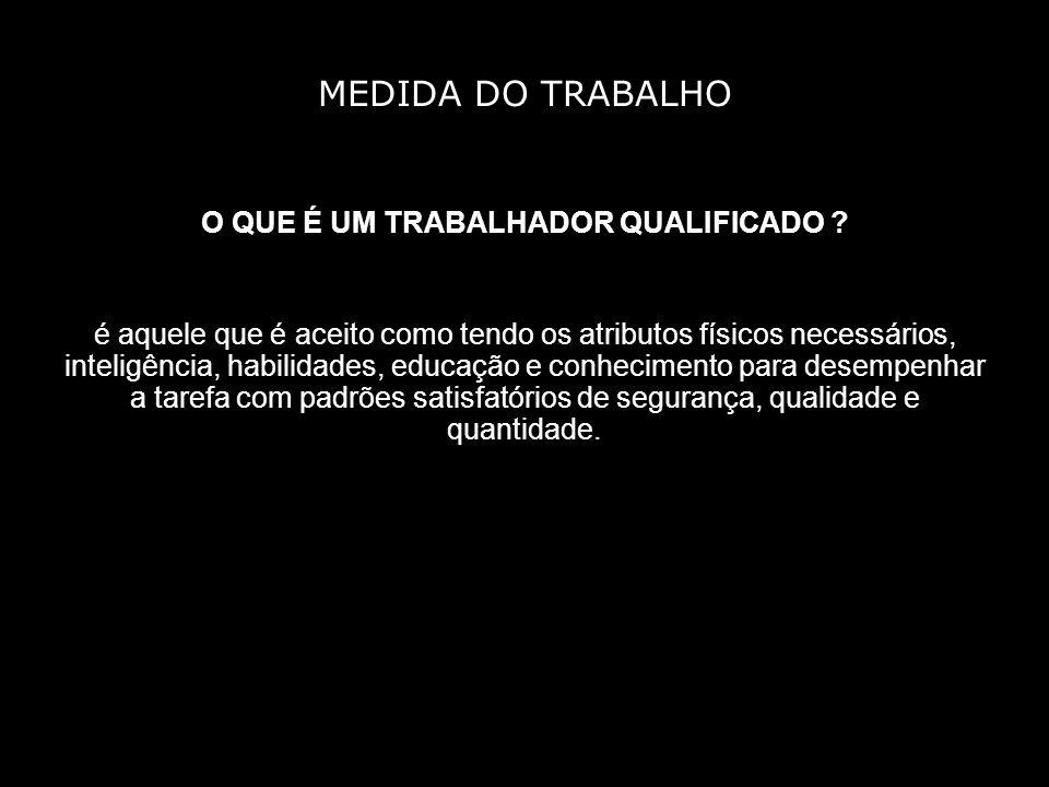 MEDIDA DO TRABALHO O QUE É UM TRABALHADOR QUALIFICADO .
