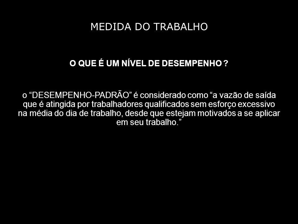 MEDIDA DO TRABALHO O QUE É UM NÍVEL DE DESEMPENHO .