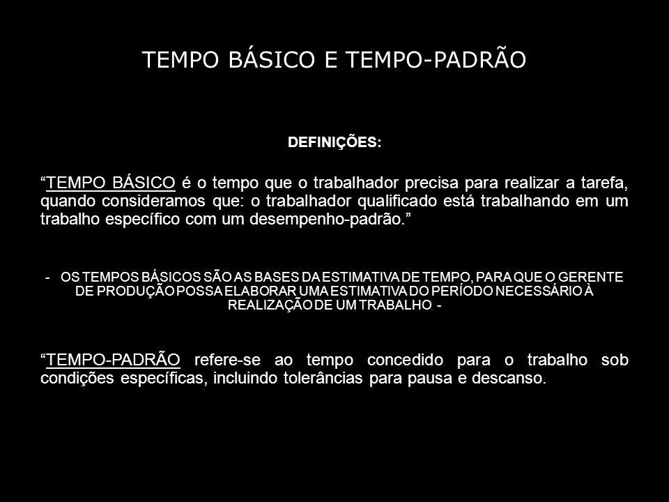 TEMPO BÁSICO E TEMPO-PADRÃO