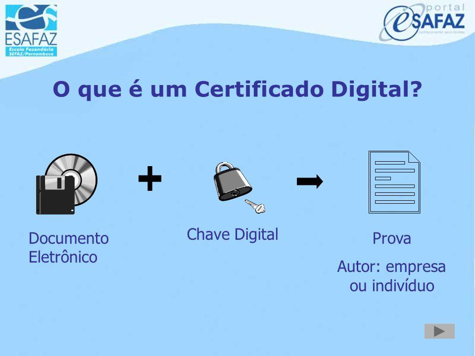 Certificação Digital Emenda Constitucional nº 32/2001  Os documentos certificados pela ICP-Brasil presumem- se verdadeiros em relação aos signatários
