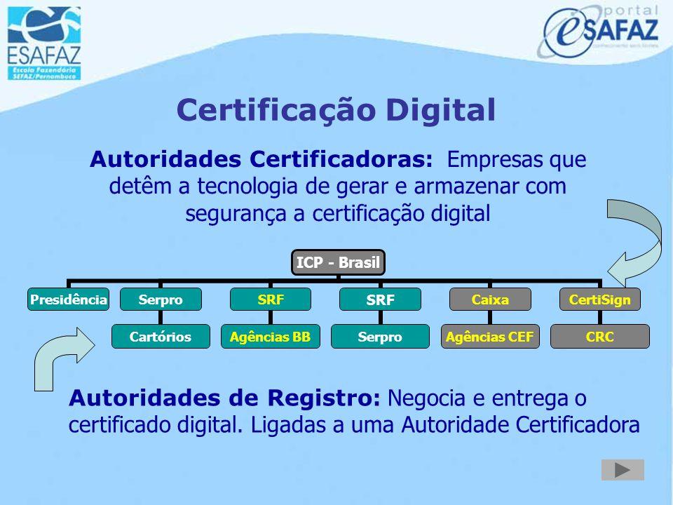 Instrumentos de Certificação Digital E-CPF E-CNPJ Leitora de Smart Card Token