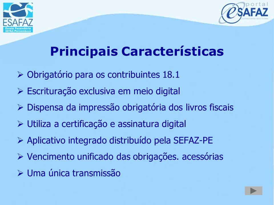 O Sistema de Escrituração Fiscal  Institui a escrituração fiscal na mídia digital  Confere validade jurídica do arquivo  Orienta as normas de escri