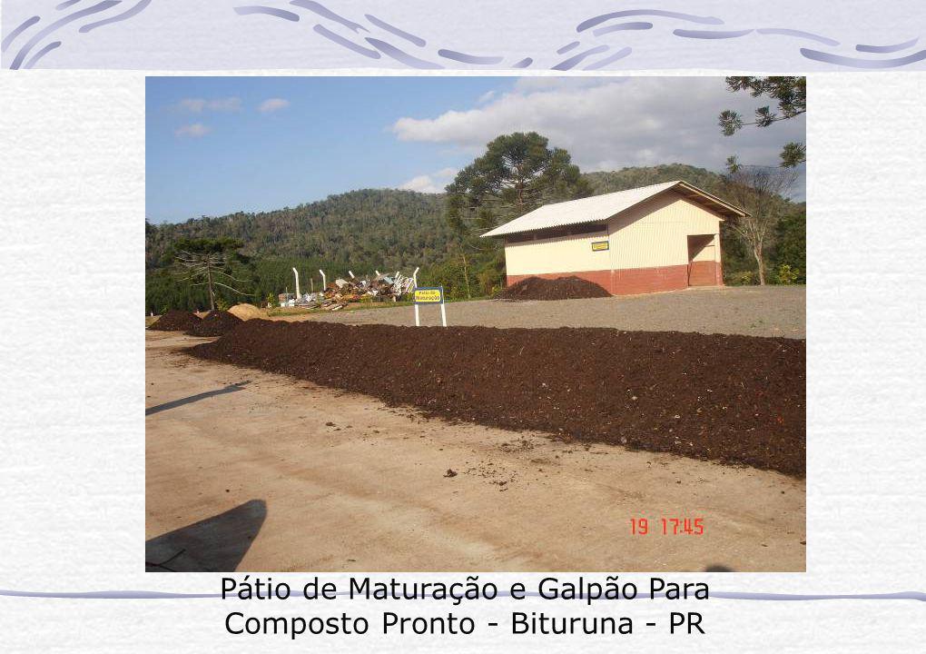 Pátio de Maturação e Galpão Para Composto Pronto - Bituruna - PR