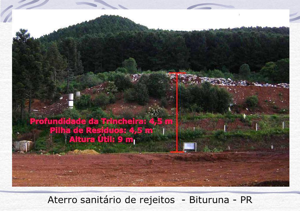 Aterro sanitário de rejeitos - Bituruna - PR