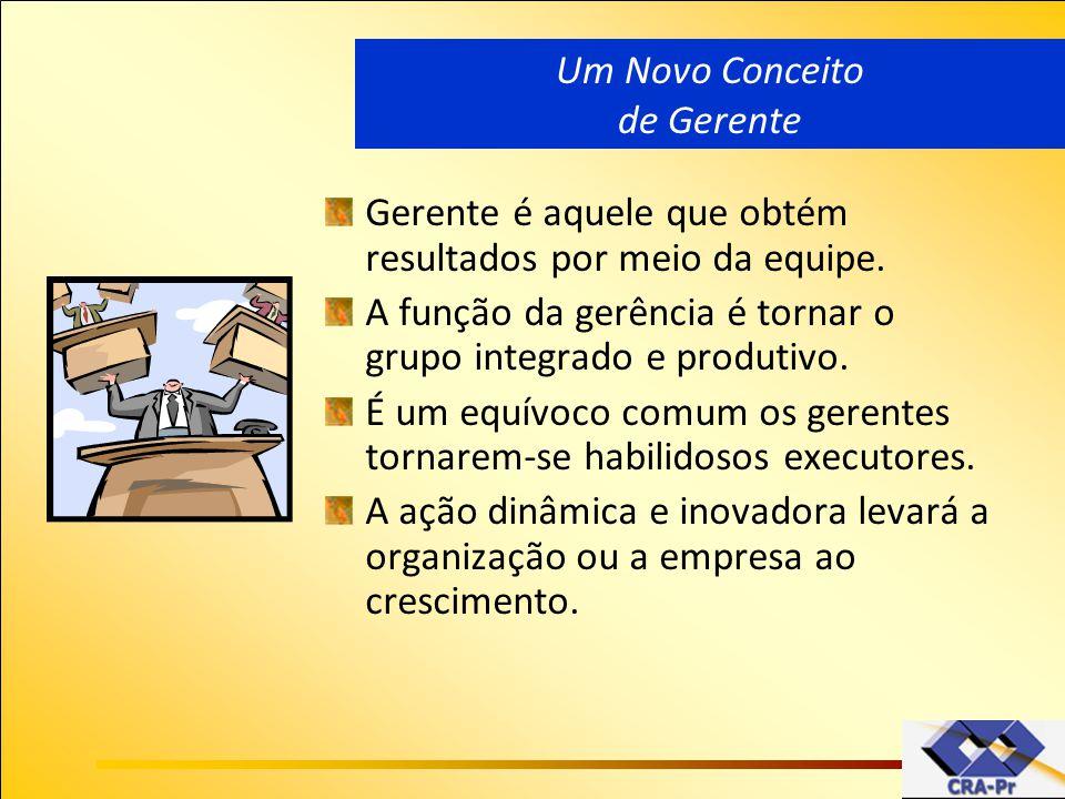 Gerente é aquele que obtém resultados por meio da equipe. A função da gerência é tornar o grupo integrado e produtivo. É um equívoco comum os gerentes