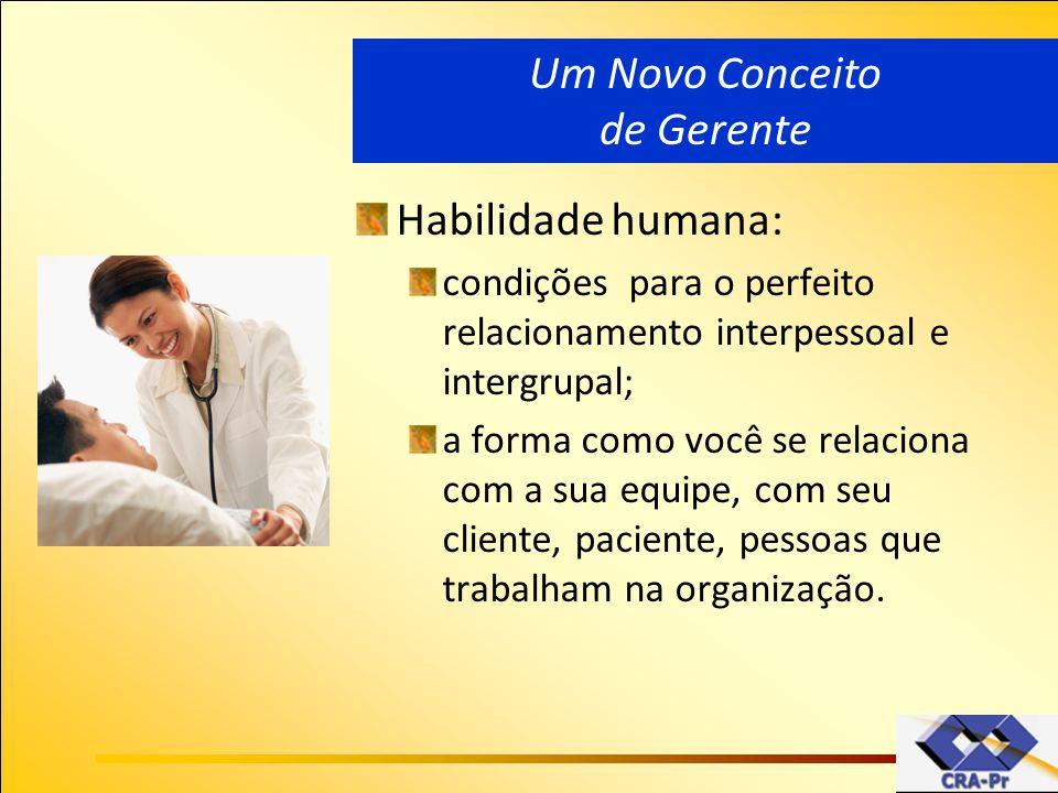 Habilidade humana: condições para o perfeito relacionamento interpessoal e intergrupal; a forma como você se relaciona com a sua equipe, com seu clien