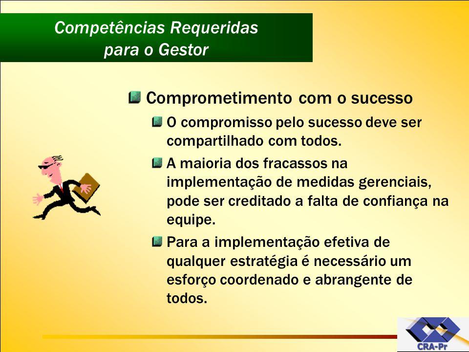 Comprometimento com o sucesso O compromisso pelo sucesso deve ser compartilhado com todos. A maioria dos fracassos na implementação de medidas gerenci