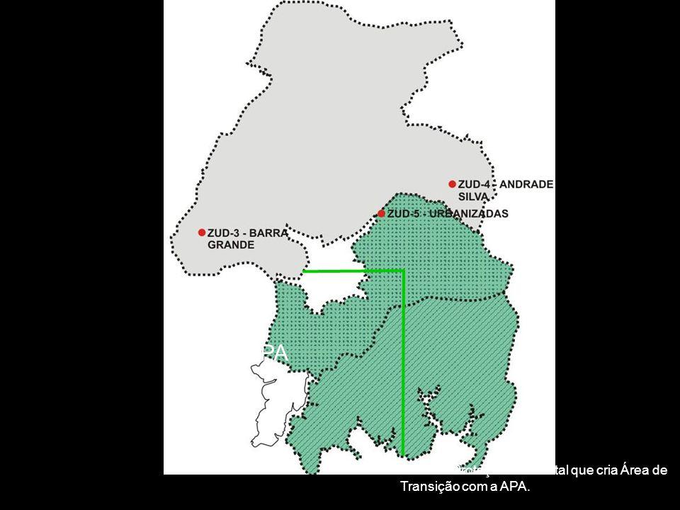 Zona de Proteção Ambiental que cria Área de Transição com a APA. APA