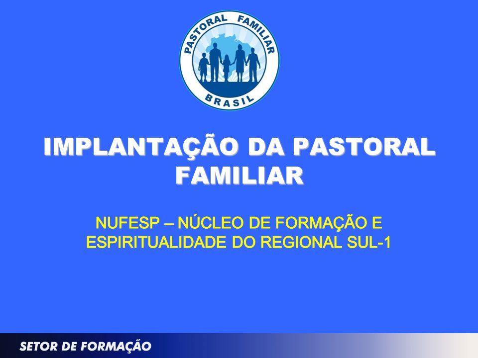 IMPLANTAÇÃO DA PASTORAL FAMILIAR