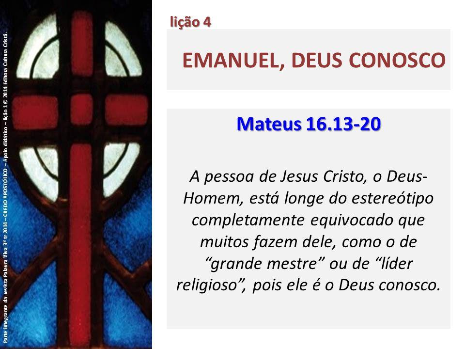 EMANUEL, DEUS CONOSCO lição 4