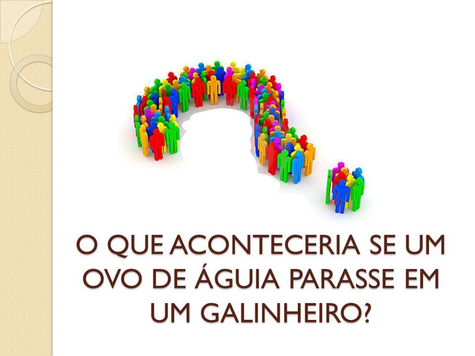 O QUE ACONTECERIA SE UM OVO DE ÁGUIA PARASSE EM UM GALINHEIRO?