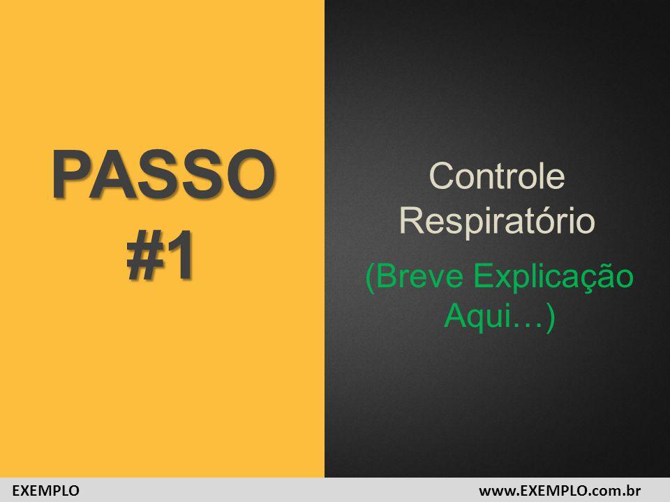 Controle Respiratório PASSO#1 (Breve Explicação Aqui…) www.EXEMPLO.com.brEXEMPLO