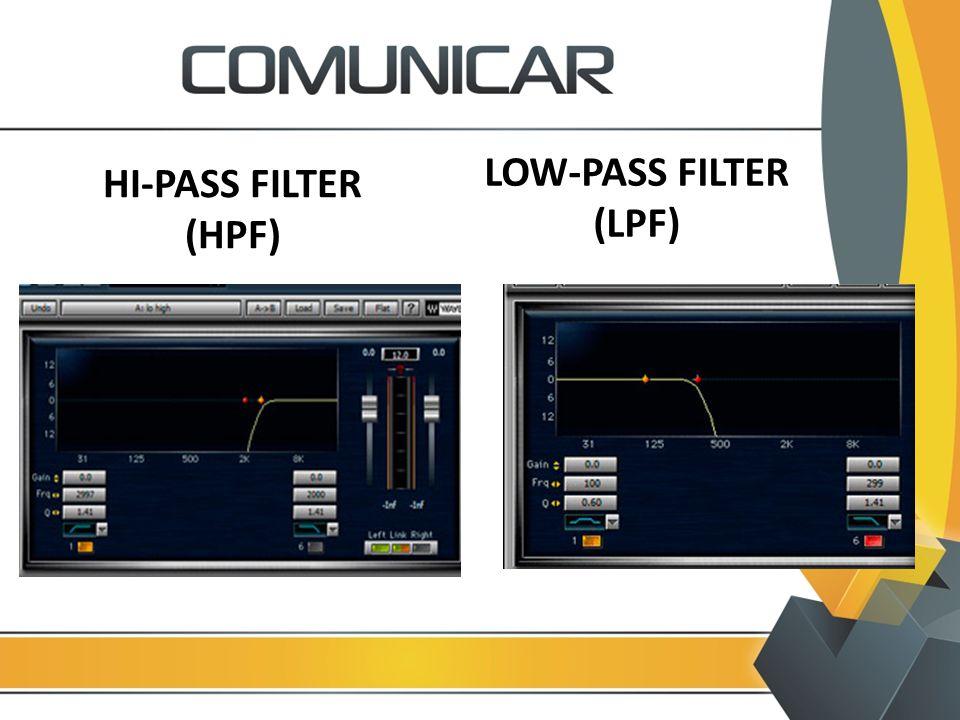 HI-PASS FILTER (HPF) LOW-PASS FILTER (LPF)