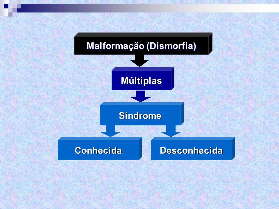 Múltiplas Malformação (Dismorfia) Síndrome ConhecidaDesconhecida