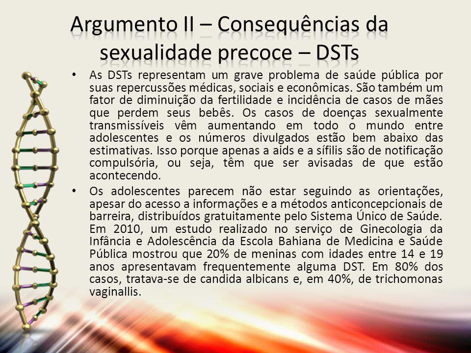 As DSTs representam um grave problema de saúde pública por suas repercussões médicas, sociais e econômicas.
