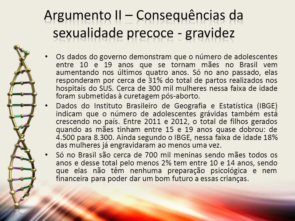 Os dados do governo demonstram que o número de adolescentes entre 10 e 19 anos que se tornam mães no Brasil vem aumentando nos últimos quatro anos.
