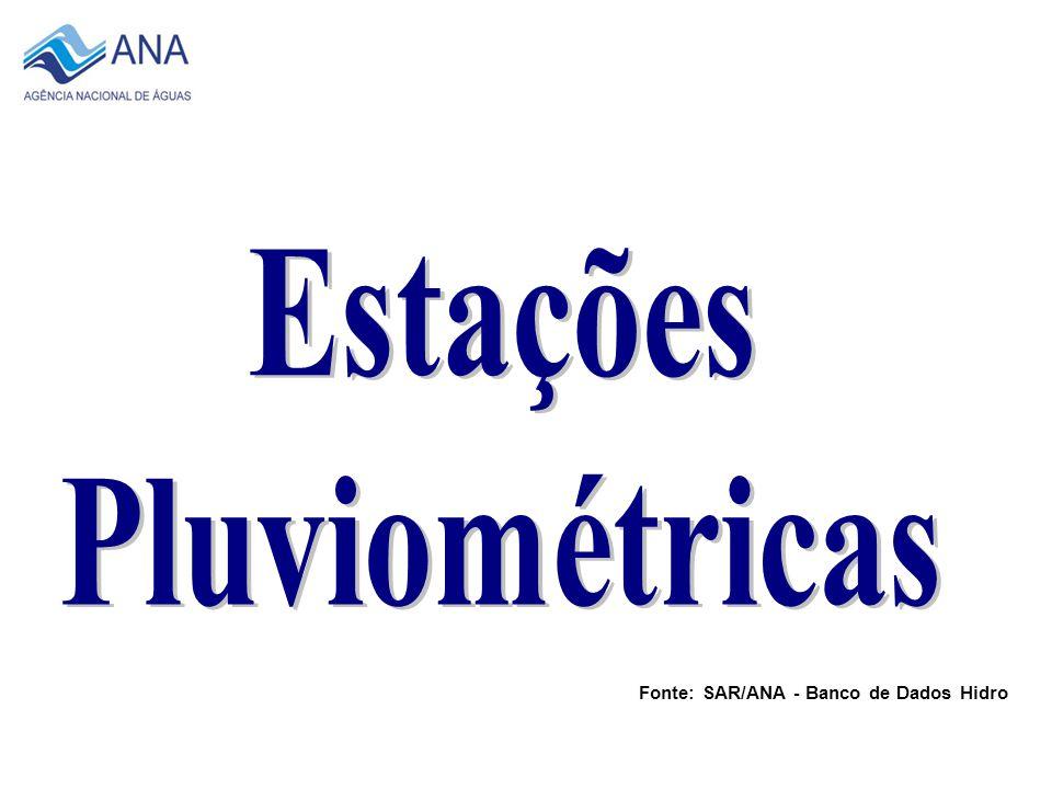 2007 Total de 415 Estações Fonte: SAR/ANA - Banco de Dados Hidro