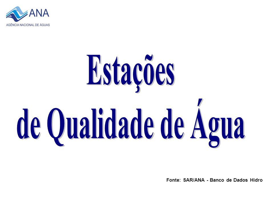 Total de 713 Estações 2007 Fonte: SAR/ANA - Banco de Dados Hidro