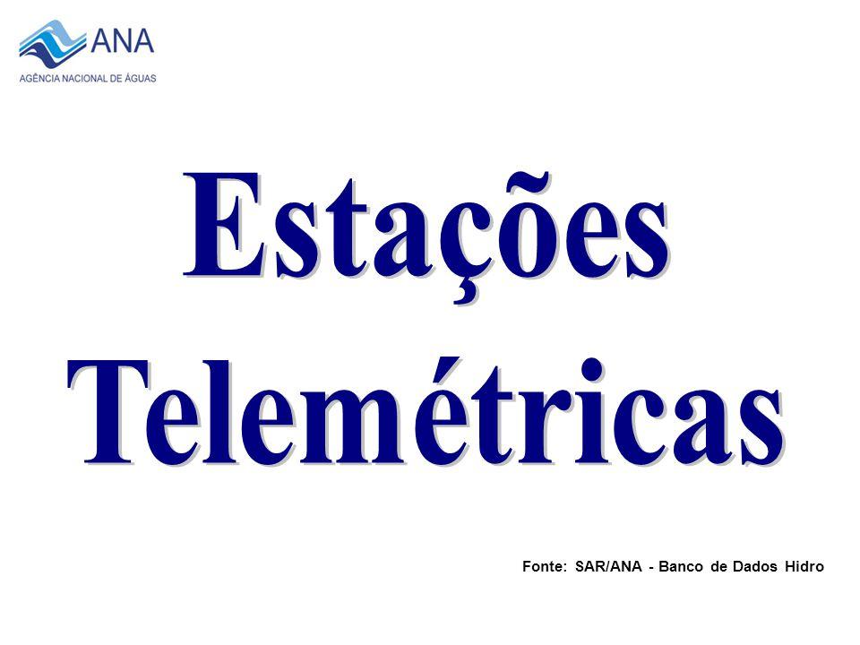 Total de 80 Estações 2007 Fonte: SAR/ANA - Banco de Dados Hidro