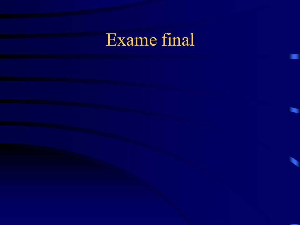 Exame final