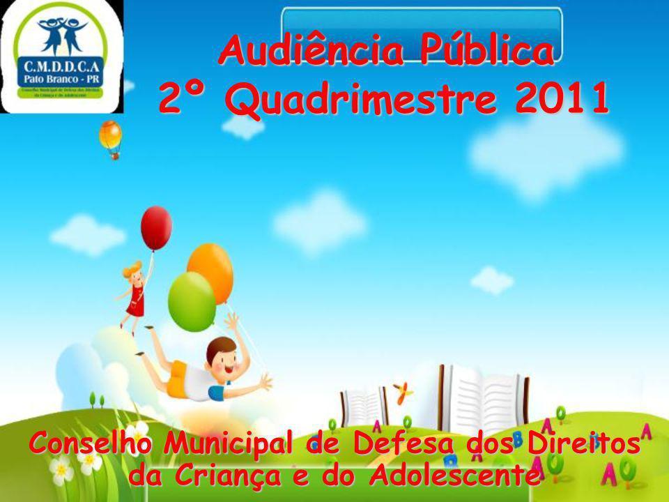 Audiência Pública 2º Quadrimestre 2011 Conselho Municipal de Defesa dos Direitos da Criança e do Adolescente