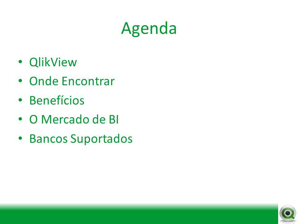Agenda QlikView Onde Encontrar Benefícios O Mercado de BI Bancos Suportados