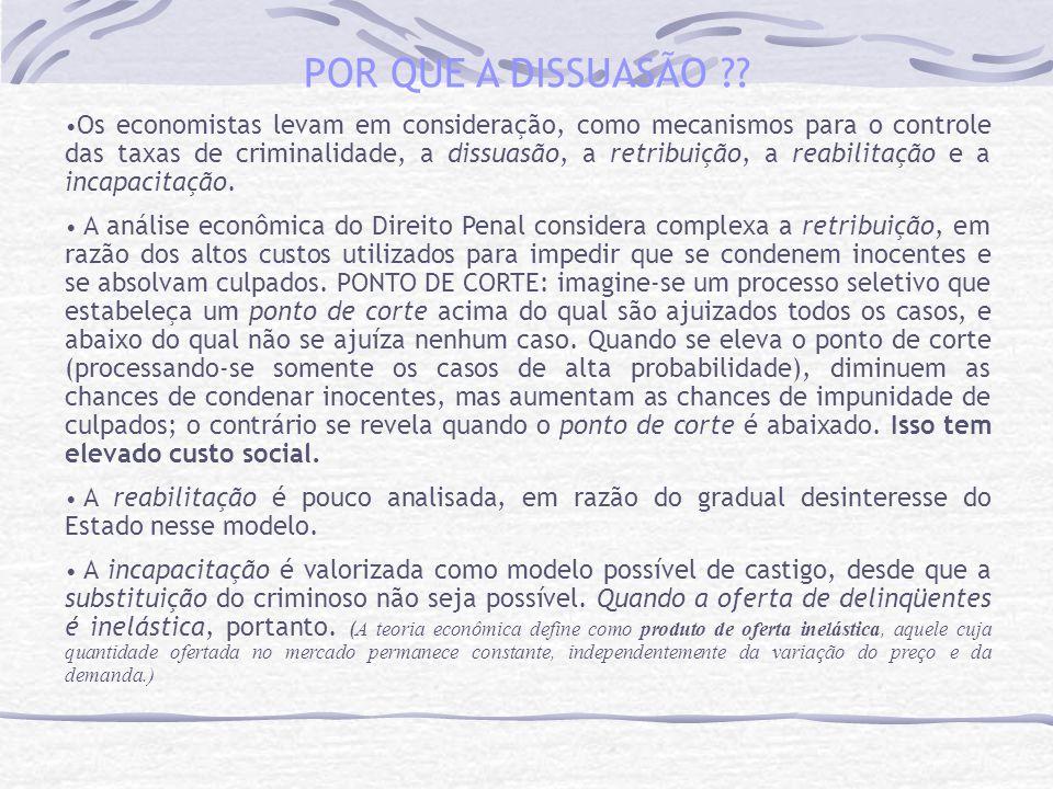POR QUE A DISSUASÃO ?.