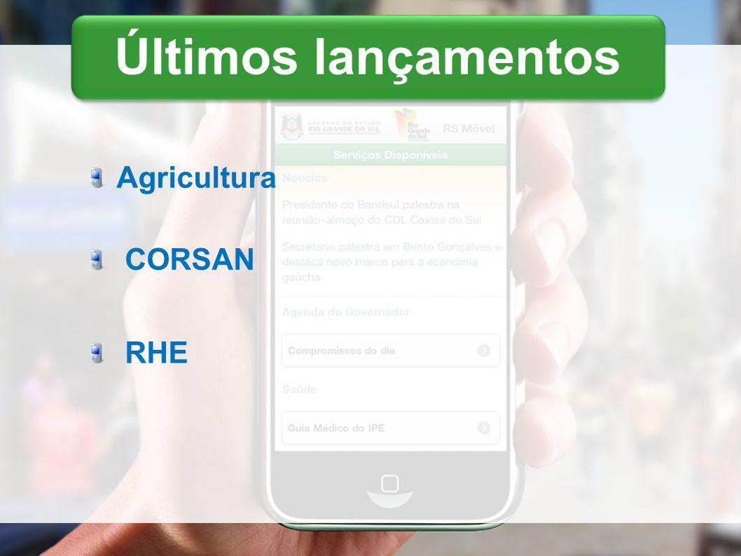 Últimos lançamentos Agricultura CORSAN RHE