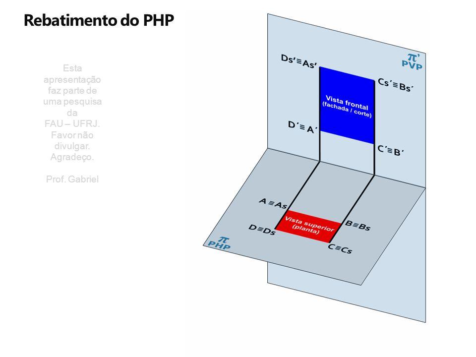 Rebatimento do PHP Esta apresentação faz parte de uma pesquisa da FAU – UFRJ. Favor não divulgar. Agradeço. Prof. Gabriel