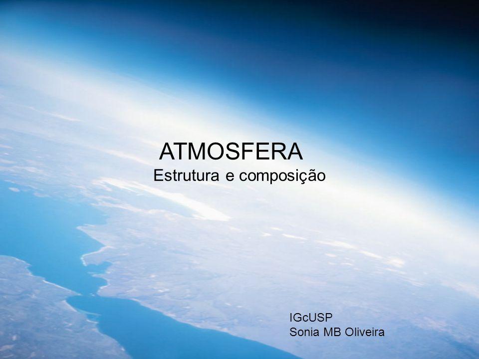 ATMOSFERA Estrutura e composição IGcUSP Sonia MB Oliveira