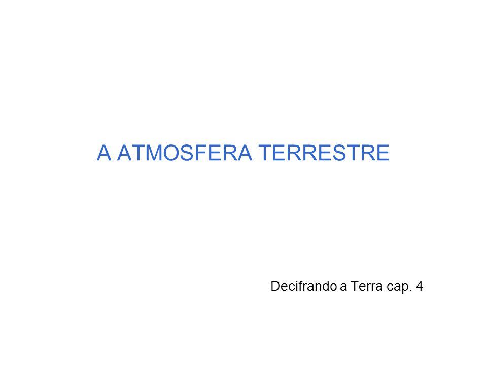 A ATMOSFERA TERRESTRE Decifrando a Terra cap. 4