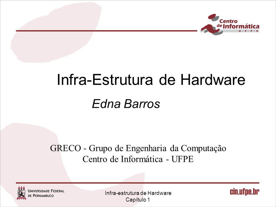 Infra-estrutura de Hardware Capítulo 1 Infra-Estrutura de Hardware Edna Barros GRECO - Grupo de Engenharia da Computação Centro de Informática - UFPE