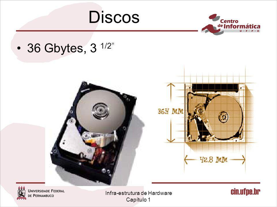 """Infra-estrutura de Hardware Capítulo 1 Discos 36 Gbytes, 3 1/2"""""""
