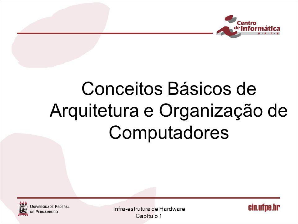 Infra-estrutura de Hardware Capítulo 1 Conceitos Básicos de Arquitetura e Organização de Computadores